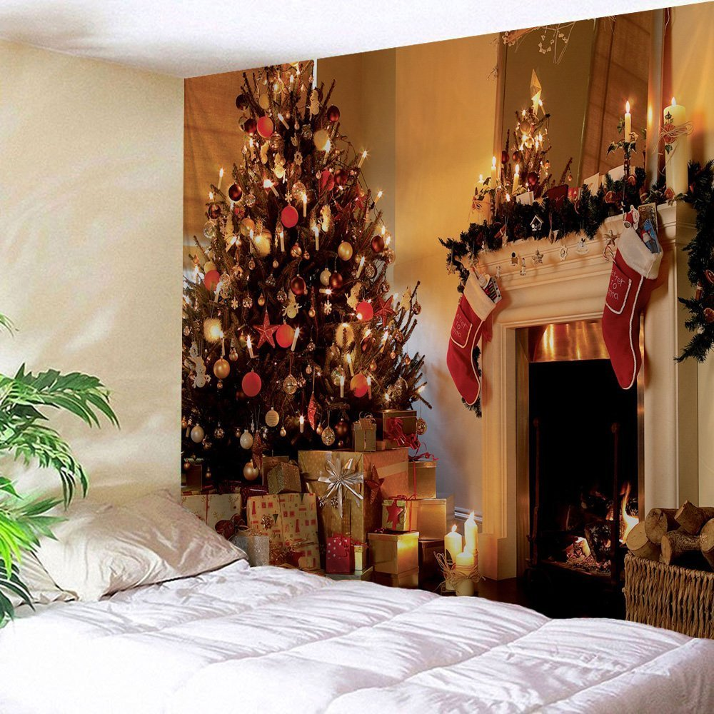 194c4e59e53 Amazon.com  Christmas Tapestry Christmas Decoration Fabric Tapestry  Festival Wall Hanging Romantic Wall Art Holiday Gift (60  X80  )  Home    Kitchen