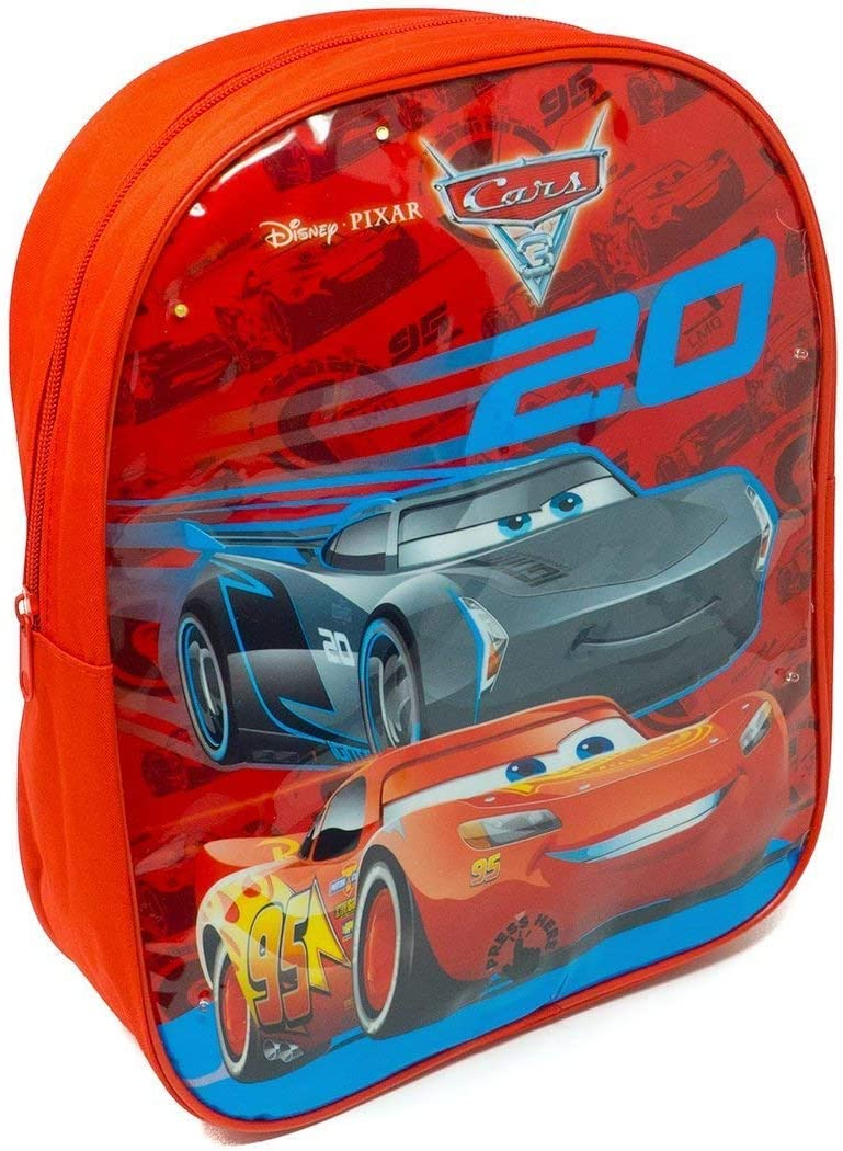 CARS 1000HV-6488T Nursery Backpack with Adjustable Straps Red 26 cm