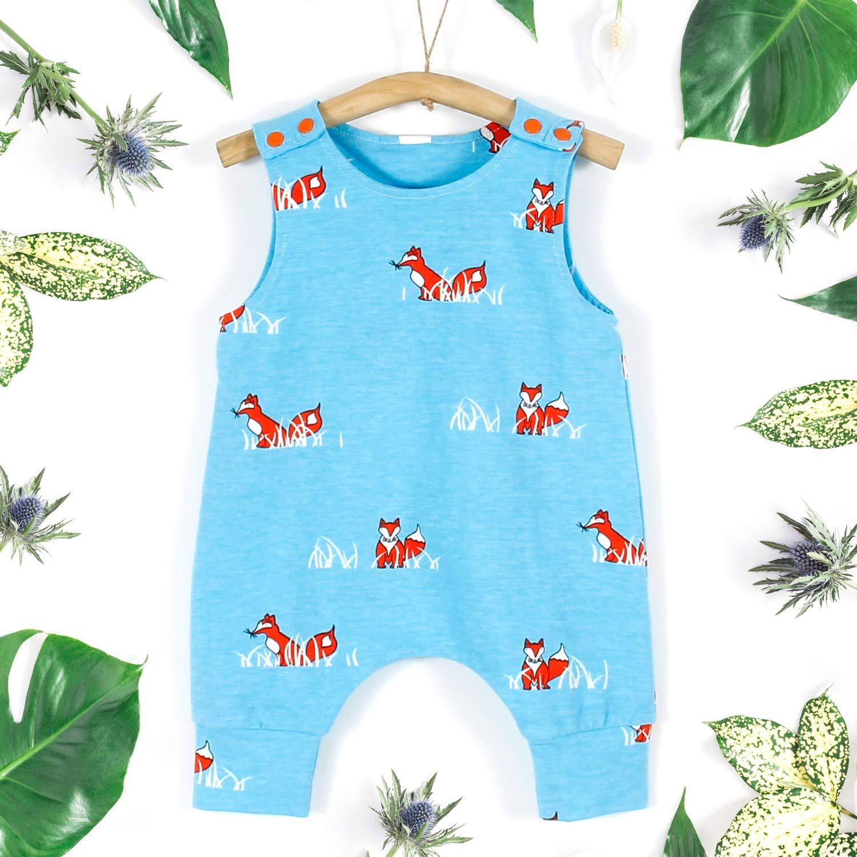 7267e06e8b8f Amazon.com  PatPat Unisex Kids Cute Sleeveless Romper with Animal ...
