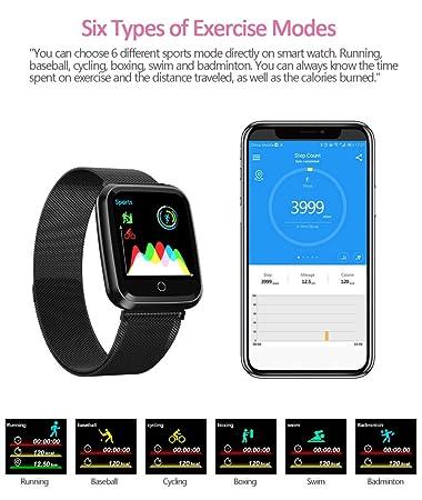 JKYIUBG Reloj Inteligente Deporte Monitor de frecuencia cardíaca ...