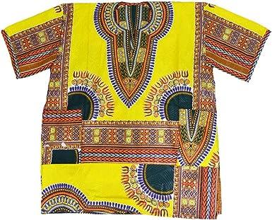 Horus Artesanía de Egipto Camisa Africana algodón Wax Unisex de 65 cm Ancho y 80 cm Largo nº 2: Amazon.es: Ropa y accesorios