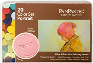 PanPastel 30203 Ultra Soft Artist Pastel 20 Color Set - Portrait w/Sofft Tools