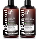 Artnaturals Organic Moroccan Argan Oil Shampoo and Conditioner Set - (2 x 16 Fl Oz / 473ml) - Volumizing & Moisturizing - Gen