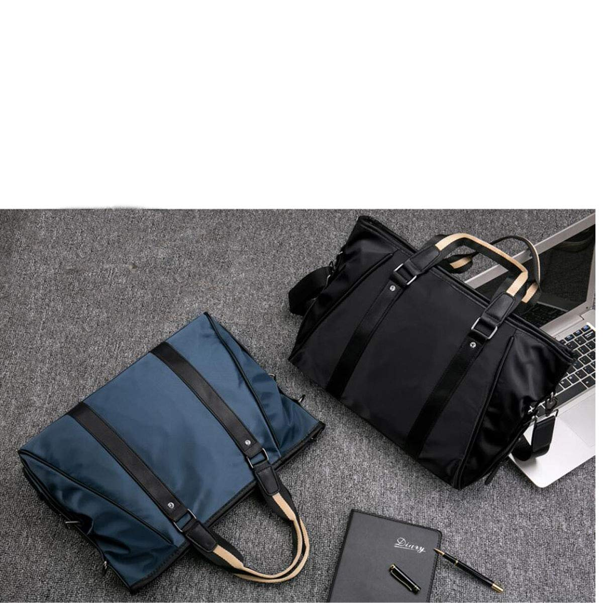 New Portable Mens Business Tote Size: 37830cm Color : Blue Kehuitong Briefcase Black and Blue