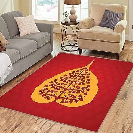 Amazon.com: Rug, Floor Mat Rug, Leaf, Area Rug, Artistic ...