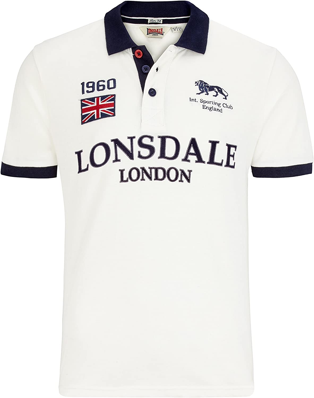 Lonsdale London - Polo - para Hombre White (7000) X-Large: Amazon ...