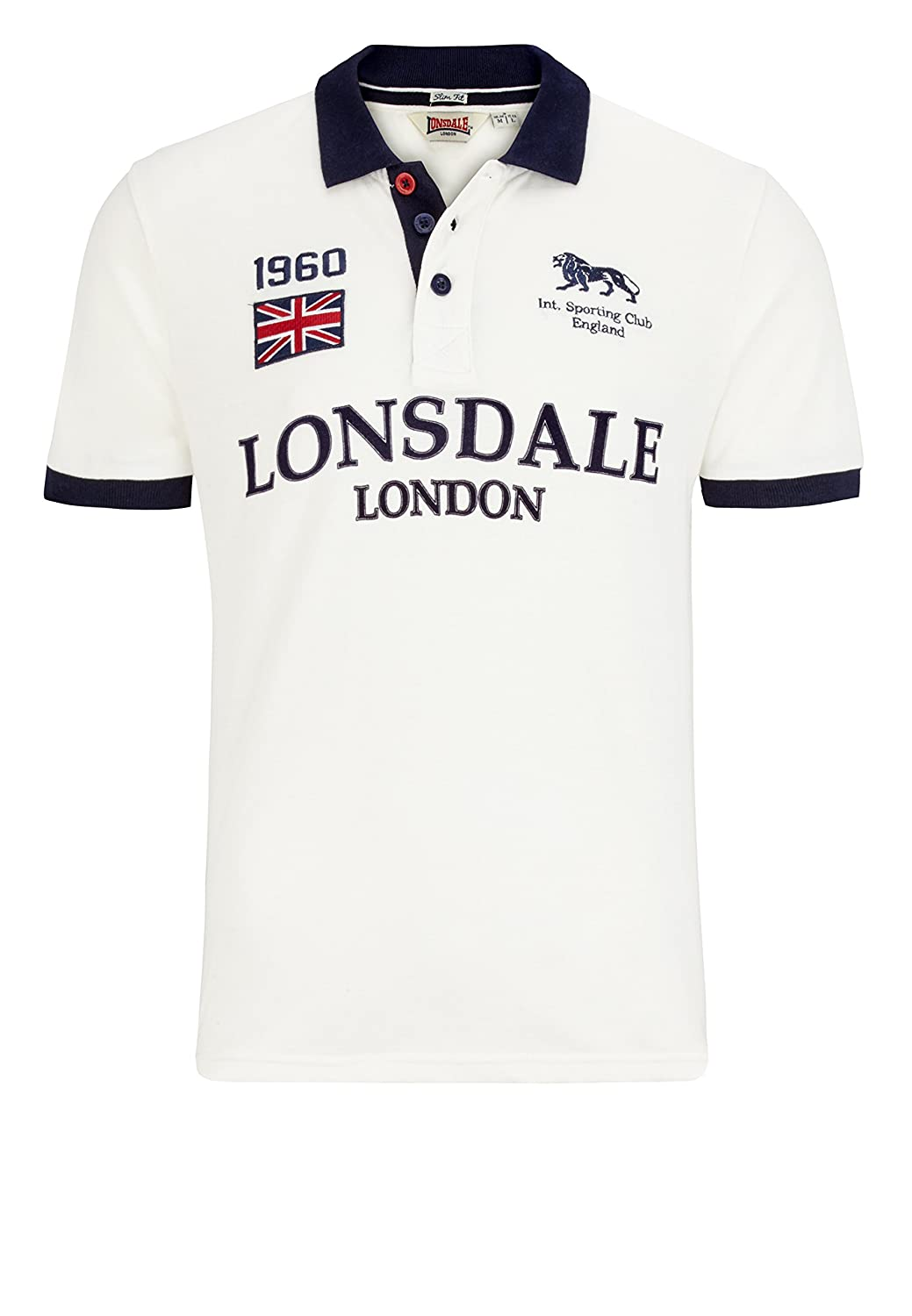 Lonsdale London - Polo - para Hombre White (7000) X-Large: Amazon ...