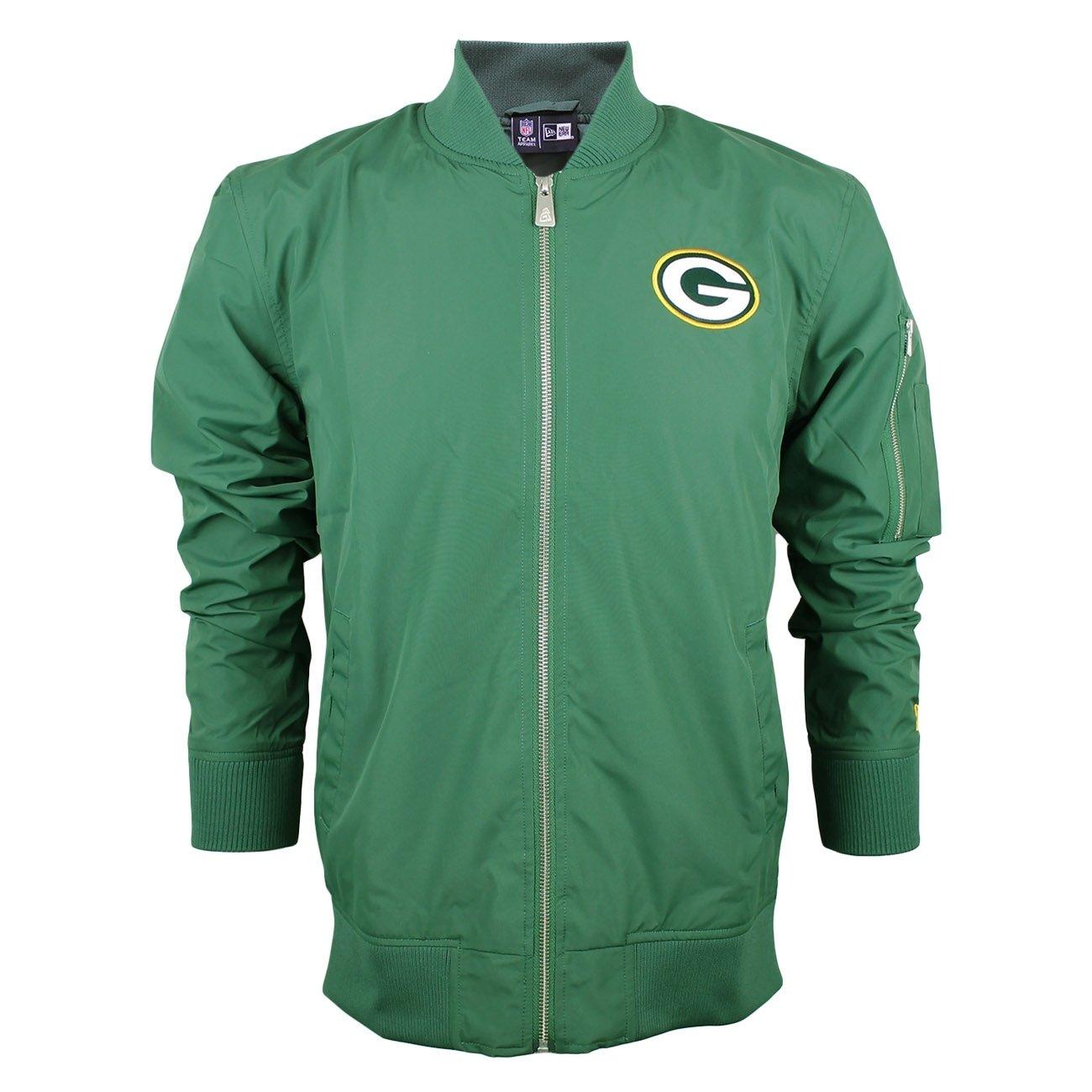 New Era Ne97052Fa16 NFL Bomber Grepac Cig - Giacca-Linea Green bay Packers da Uomo, Colore Verde, Taglia L 11278221