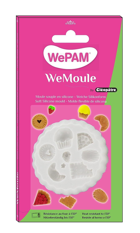 WePAM - PF00MD04 - WeMoule - Molde flexible para moldear varios pasteles con porcelana fría.: Amazon.es: Oficina y papelería