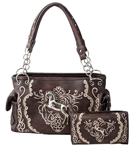 710d72588e49 HW Collection Western Horse Embroidery Equestrian Cowgirl Concealed ...