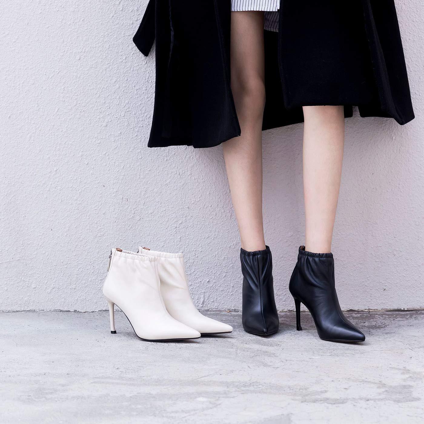 a369a430c4db49 y-h y-h y-h des chaussures bottes de cuir printemps / automne bottine de  talon aiguille les chaussons ...
