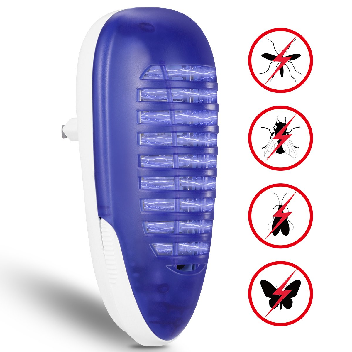 YUNLIGHTS Bug Zapper Light, Mosquito Insect Killer, 4W Plug in Electric Indoor Mosquito Trap Home Yard Garden Patio Office Store