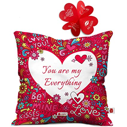 Buy Indigifts Valentine Gift For Boyfriend Love You Are My Everything Quote Cushion Cover 12x12 Inches With Filler Valentine Gifts For Girlfriend Love Gifts For Boyfriend Gift For Boyfriend Birthday Online