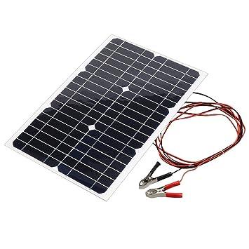 Funnyrunstore Panel de 18V 20W del coche de batería solar ...
