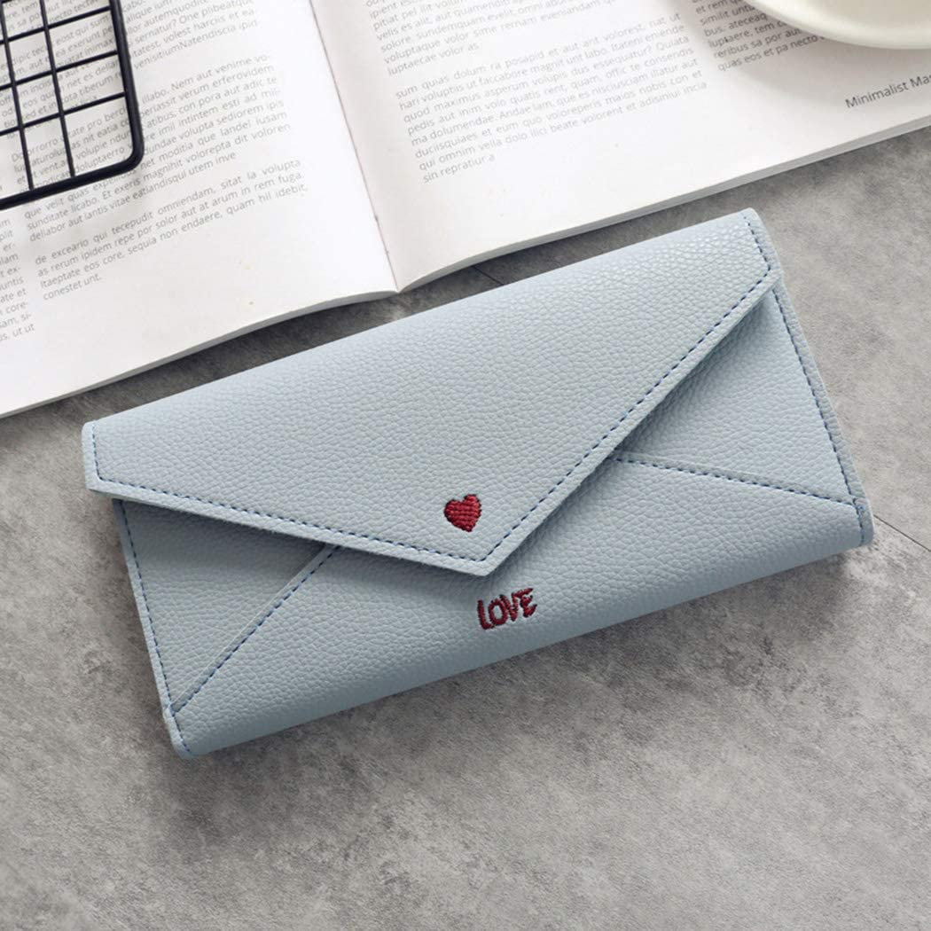 XWDA Pu Leather Trifold Multi Card Holder Wallet Clutch Long Purse for Women Ladies