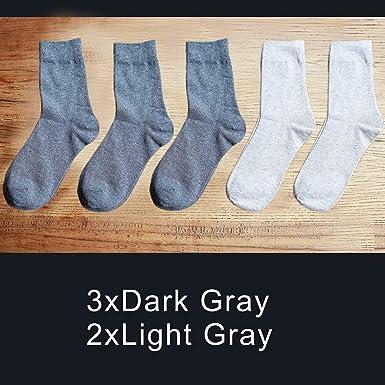 AYQX Calcetines para hombres Calcetines blancos negros Calcetines de algodón para hombres Calcetines para hombres Color sólido Negocio Primavera Verano Estaciones 09: Amazon.es: Ropa y accesorios