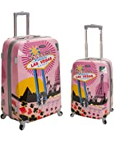 Rockland Luggage 2 Piece Upright Luggage Set, Departure, Medium