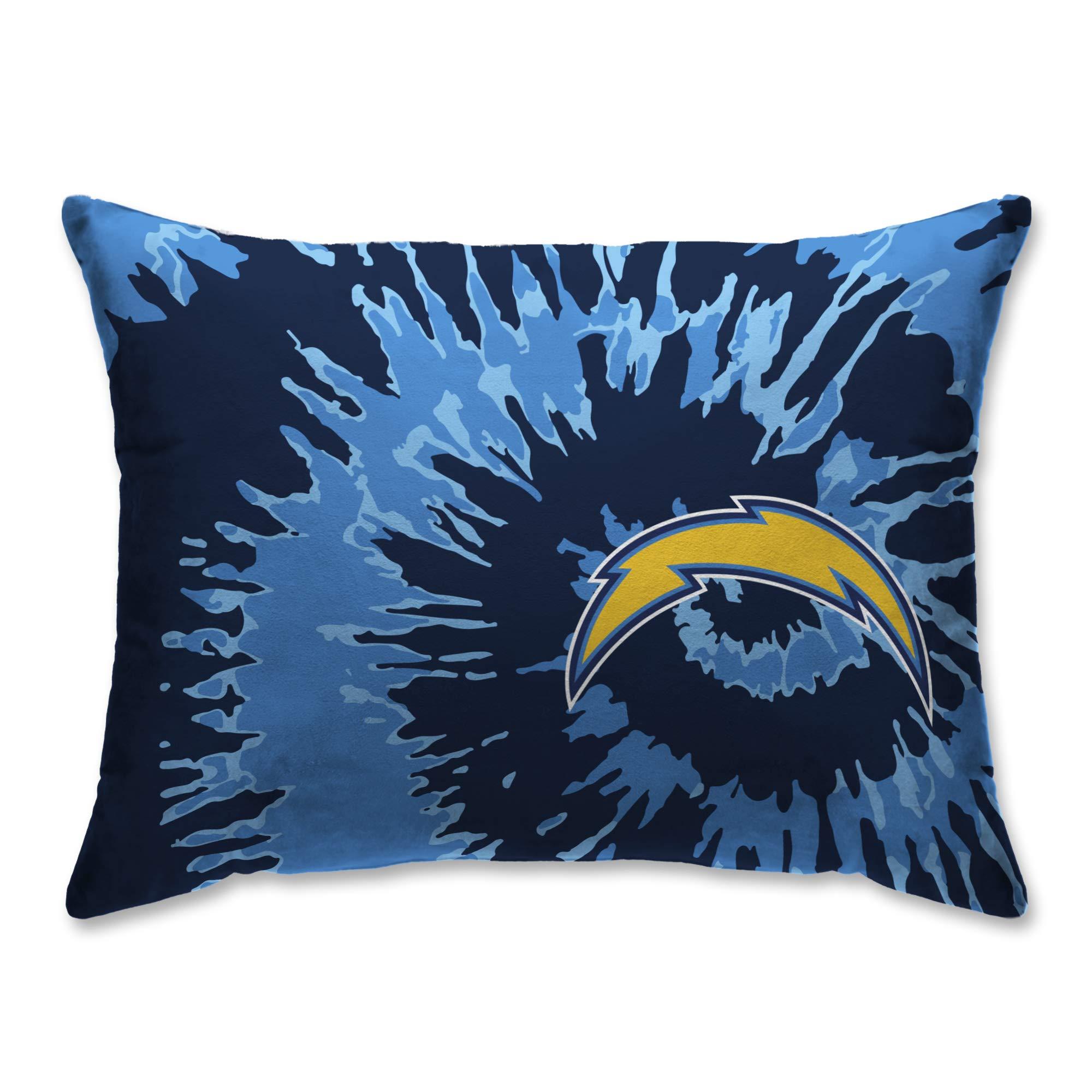 Pegasus Sports Los Angeles Chargers Tie Dye 20'' x 26'' Plush Bed Pillow, Set of 2#179596778 by Pegasus Sports