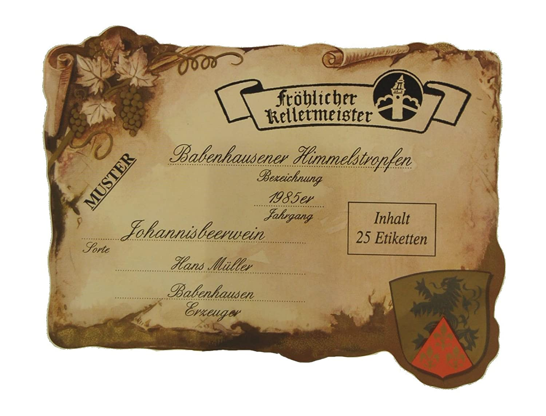 Arauner Kitzinger Flaschen-Etiketten, 25er: Amazon.de: Drogerie ...