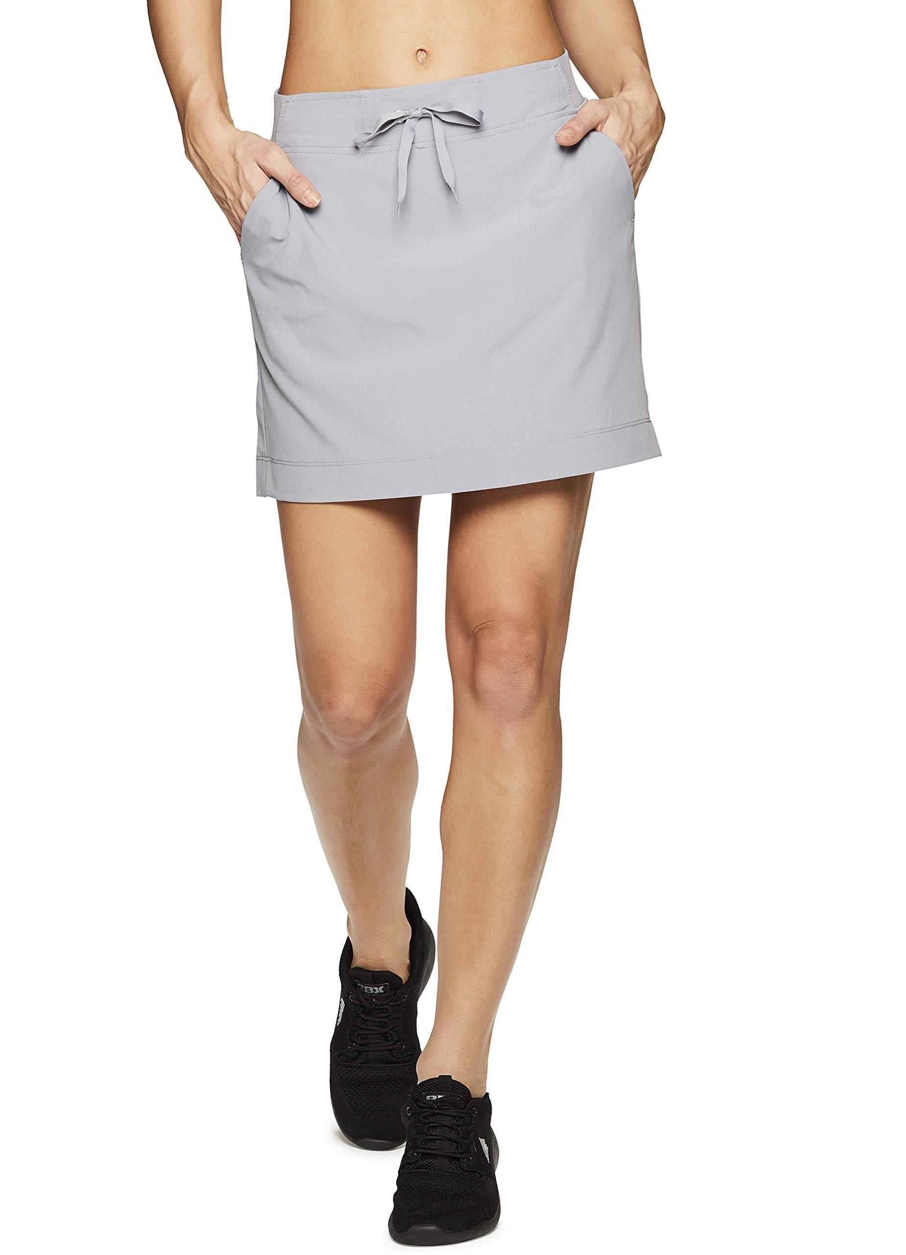 RBX Active Women's Golf/Tennis Athletic Skort with Bike Shorts S19 Grey S