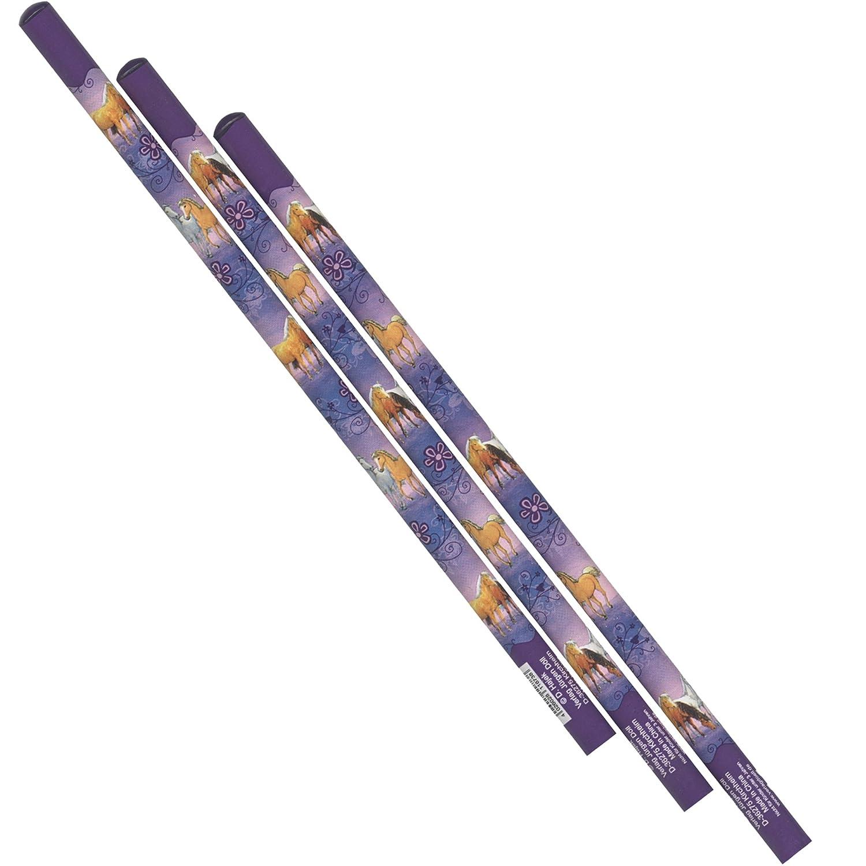 Traumpferdchen Bleistifte f/ür M/ädchen 30 Pferdebleistifte Bl/ütenzauber Traumpferdchen Bl/ütenzaubermotiv Bleistift als Mitgebsel zur Kinderparty Pferde mit 2 Bleistifte Traumpferdchen