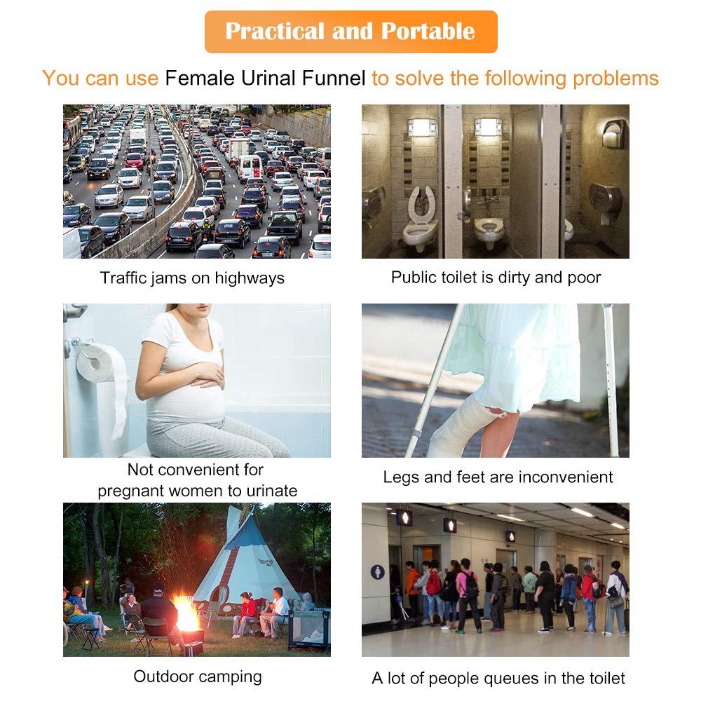 el urinario infalible Permite a Las Mujeres orinar de pie Orinal port/átil para Mujeres Viajar Actividades al Aire Libre Camping Senderismo Rosa Donpow Dispositivo de micci/ón Femenina