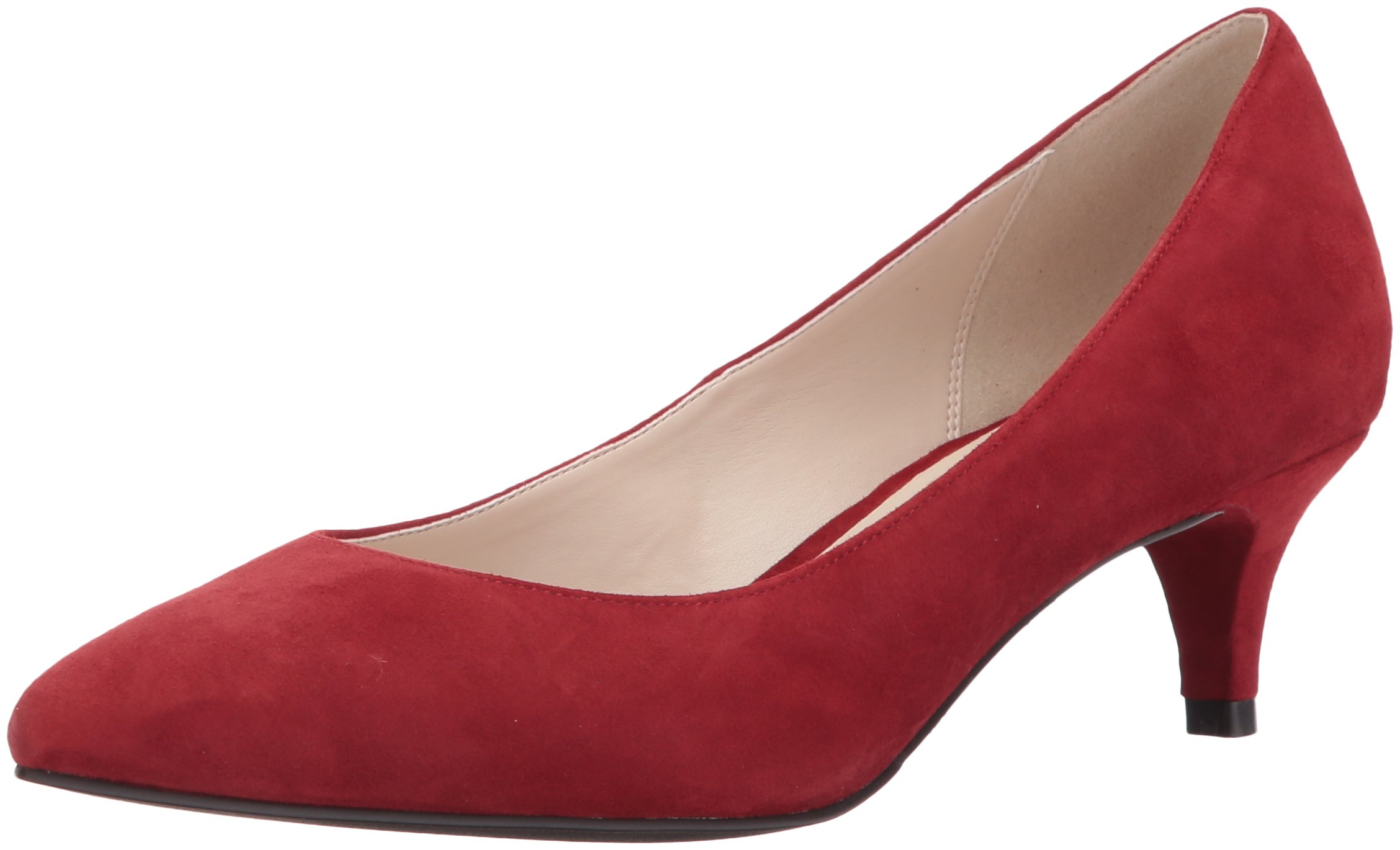 Cole Haan Women's Juliana 45 Pump, Bordeaux Suede, 7.5 B US