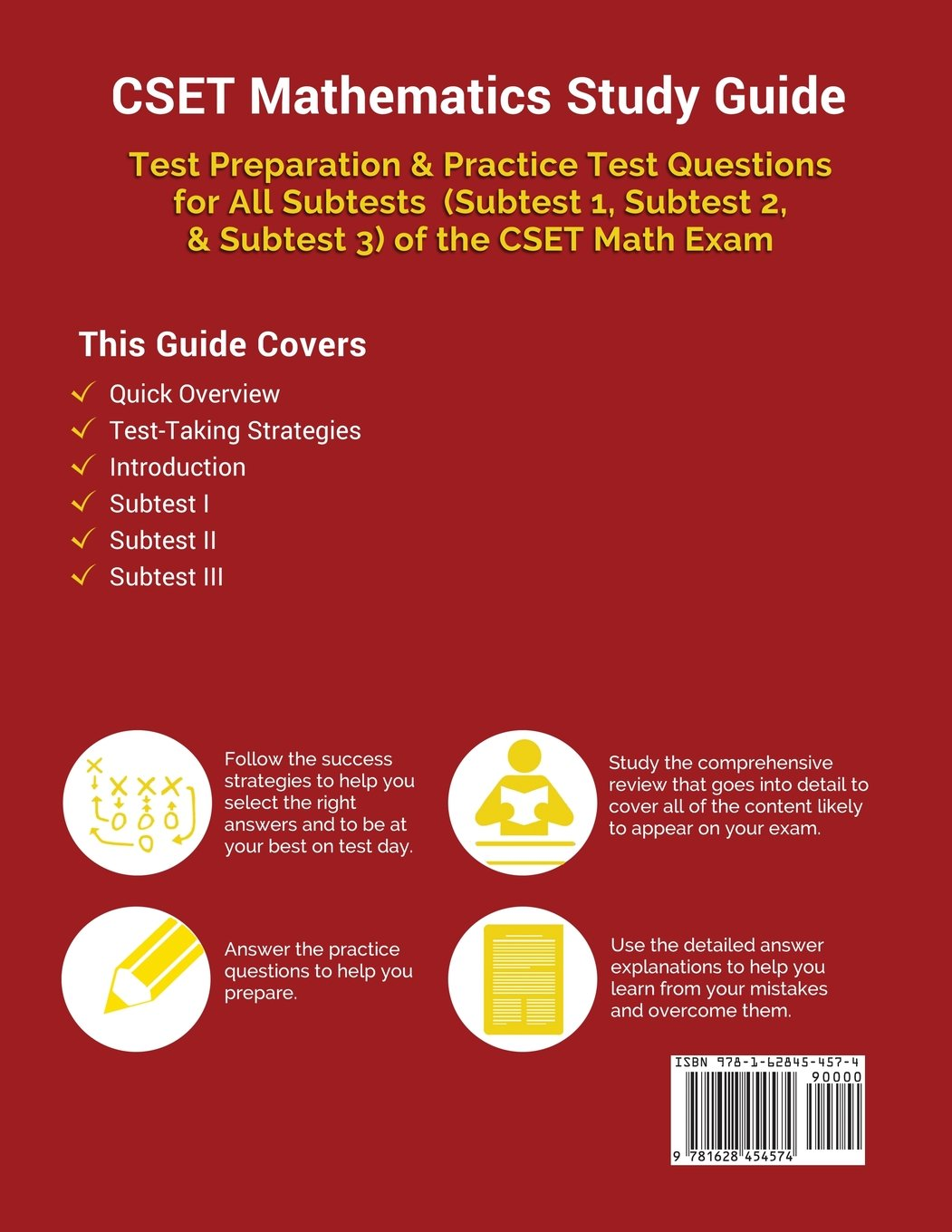 Buy Cset Mathematics Study Guide: Test Preparation & Practice Test  Questions for All Subtests (Subtest 1, Subtest 2, & Subtest 3) of the Cset  Math Exam Book ...