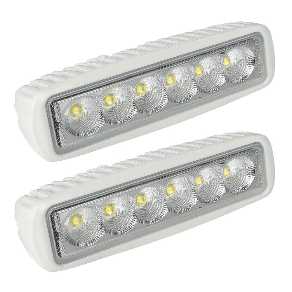 Com Leaningtech White Spreader Led Deck Marine Lights Set Of 2 For Boat Flood Light 12v 18w Sports Outdoors