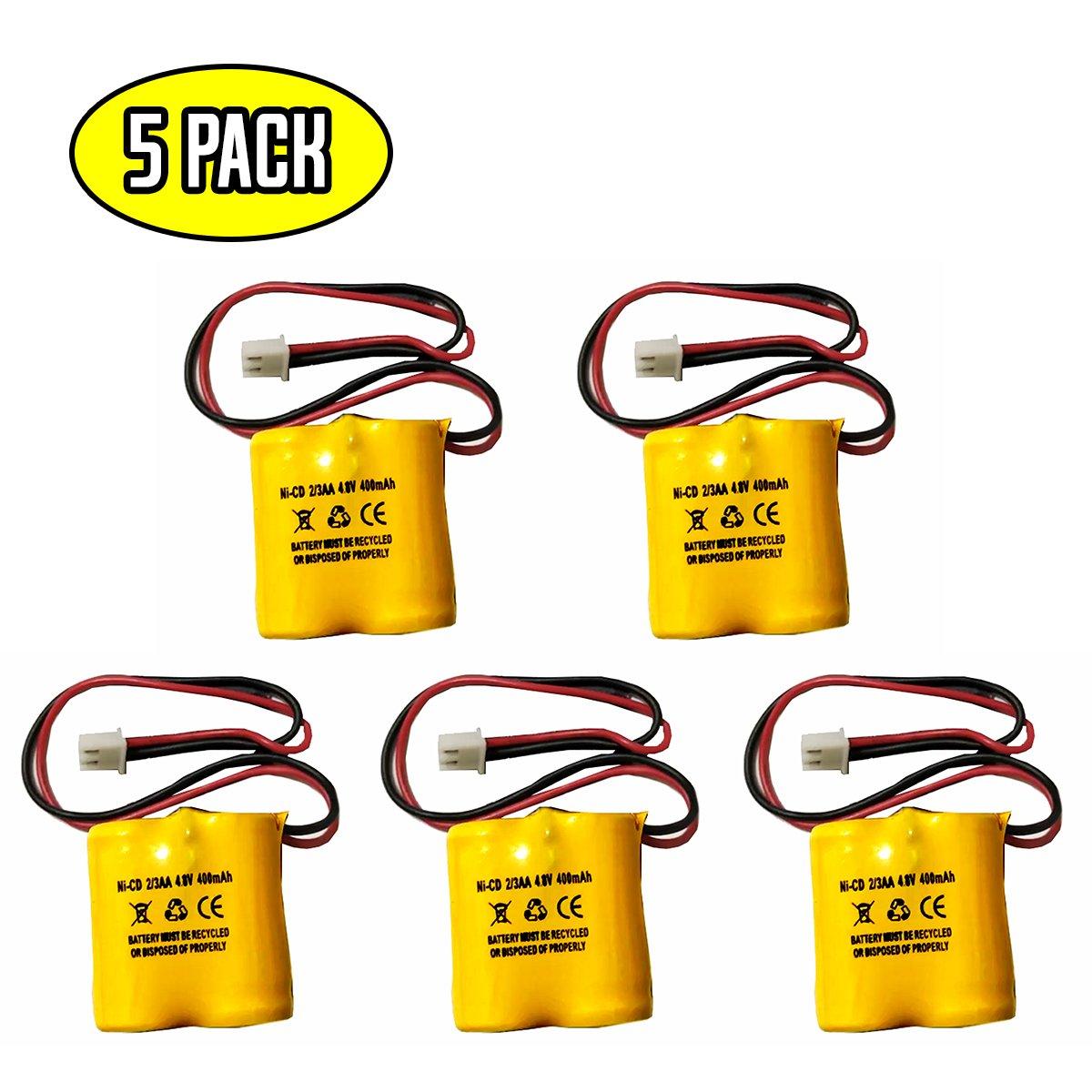 (5 pack) D-2/3AA400MAH BL93NC484 MK Power MH29673 CUSTOM-196 Dantona BST Battery 4.8V OSA162 ANIC1361 4.8v 400mAh Ni-Cd Battery Replacement for Exit Sign Emergency Light