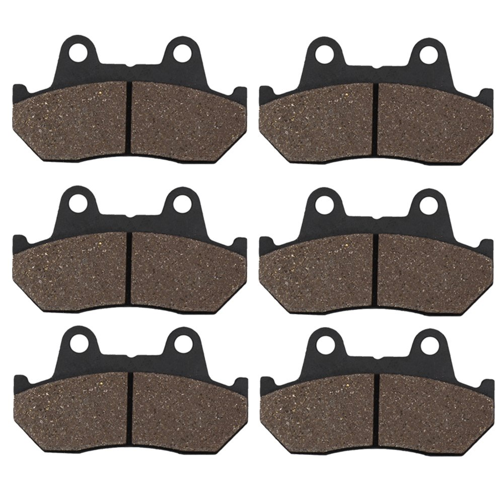 Cyleto Front and Rear Brake Pads for Honda GL1200 Goldwing 1200 1984 1985 1986