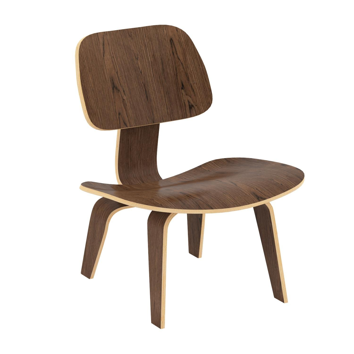 Poly and Bark Isabella Lounge Chair, Walnut