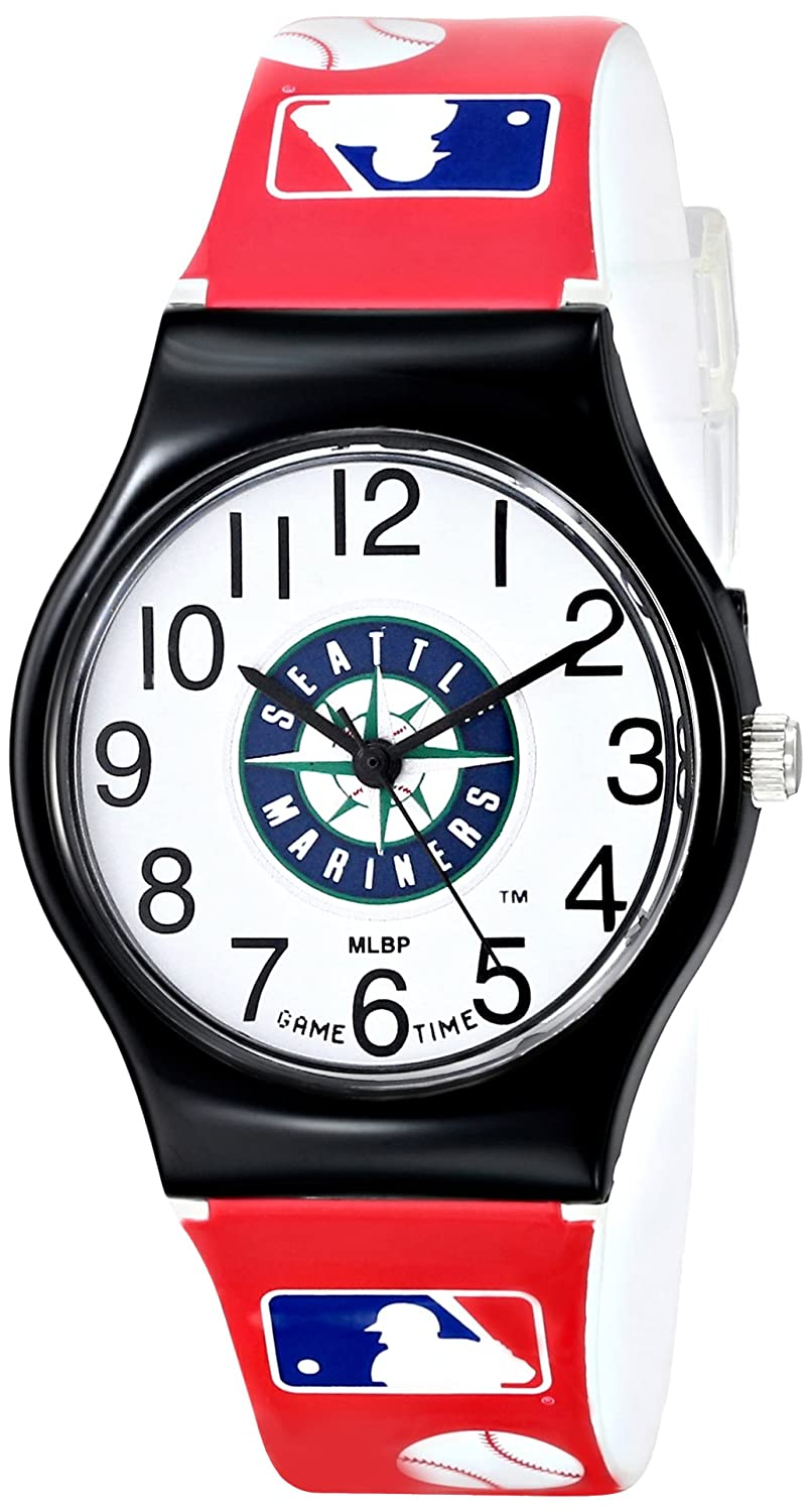 Game Time Youth MLB JV SEA JV Seattle Mariners Watch with MLB Graphic Band