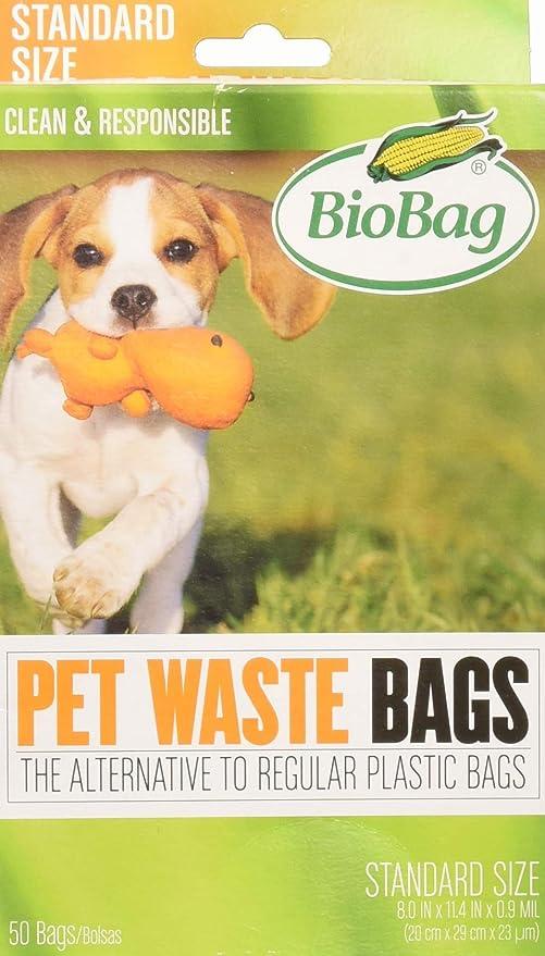 Amazon.com: Biobag 50-Count perro bolsas de basura: Mascotas