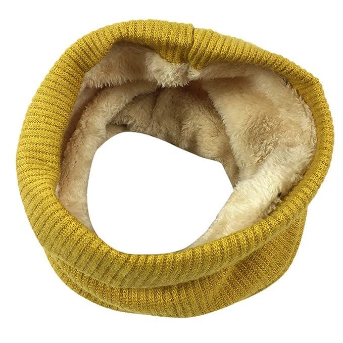 Mode Frauen Winter Warme Strick Hals Cowl Kreis Kragen Samt Schal Schal