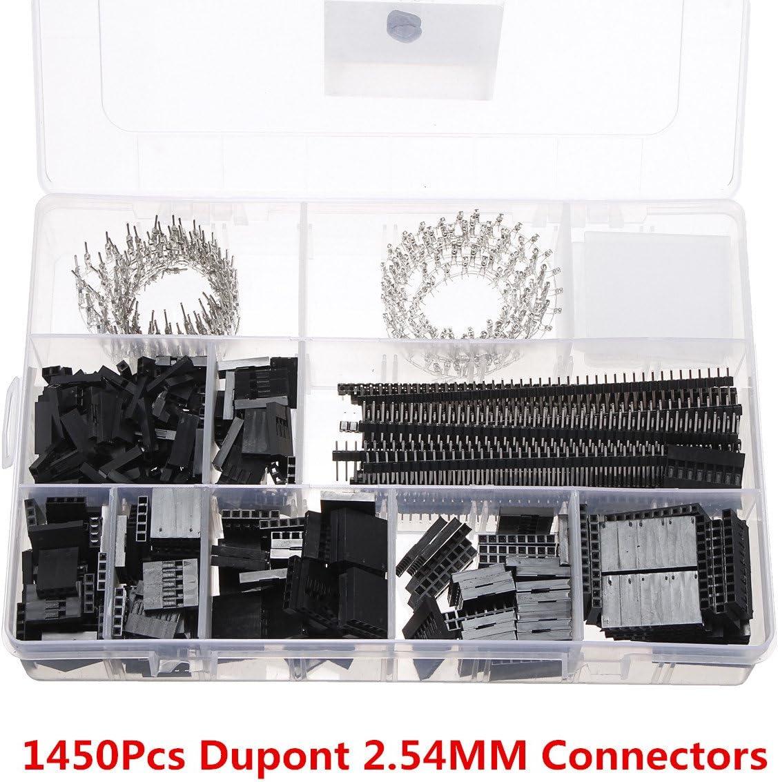 ILS – 1450 Stücke Dupont 2.54 mm Conector Surtido Crimp Juego de Herramientas Escalera Placas lápiz Listones: Amazon.es: Electrónica