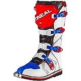 O'Neal Rider Boot MX Cross Stiefel Blau Rot Weiß Motorrad Enduro Motocross Offroad, 0329-7