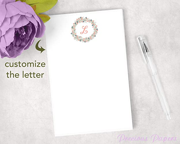 Image Unavailable  sc 1 st  Amazon.com & Amazon.com: Personalized monogram notepad makes a great gift ...