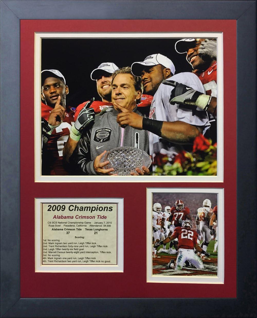 Legends Never Die 2012 Alabama Crimson Tide National Champions Framed Photo Collage 11 x 14-Inch