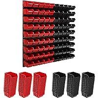 Opslagsysteem wandrek 772 x 780 mm   90 stuks Box   Stapelboxen Schüttenregal Opslagbakken   Extra sterke wandplaten…