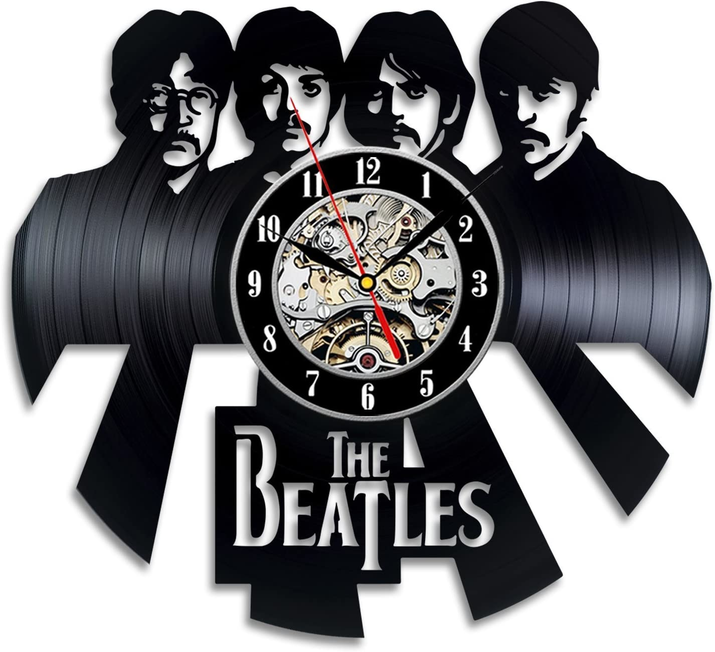 Beatles Band Design Wall Clock Made from Used Vinyl Record - Get Unique Home Room Wall Decor - Gift Ideas for Boys and Girls – Unique Music Fan Art