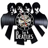 The Beatles Art Vinyl Wall Clock Gift Room Modern Home Record Vintage Decoration