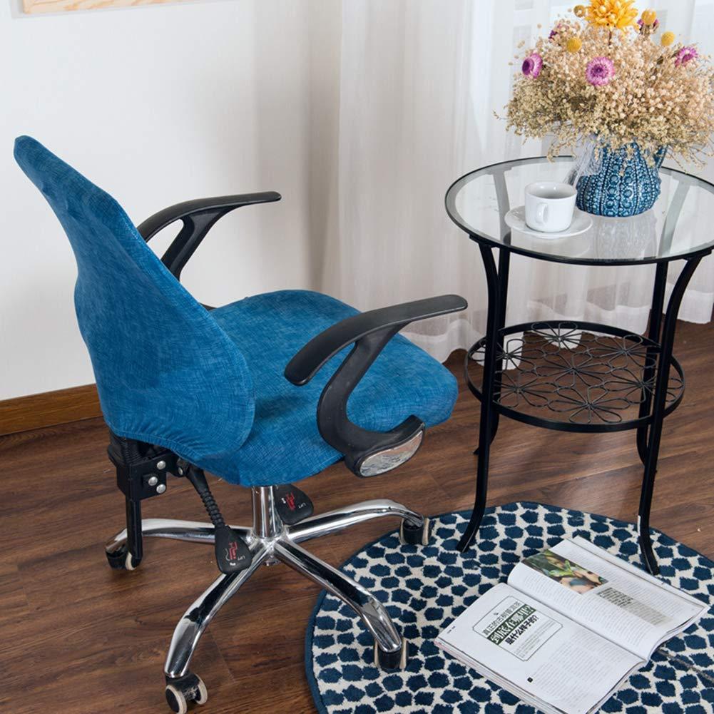 Soddyenergy Coprisedia per Sedia da Ufficio in Elastan Universale Dark Blue Anti-Polvere