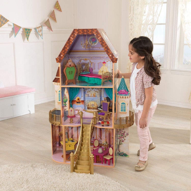 KidKraft Disney Princess Belle Enchanted Wooden Dollhouse