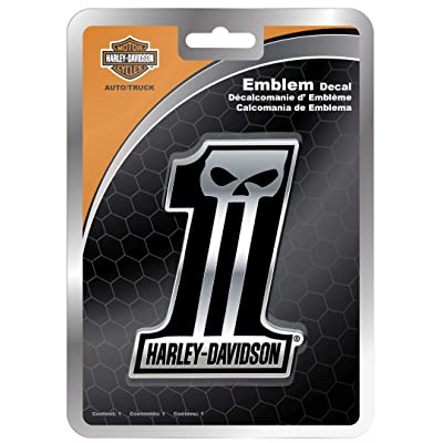 CHROMA 41507 Harley Davidson Dark #1 Emblemz Decal: Harley-Davidson: Automotive