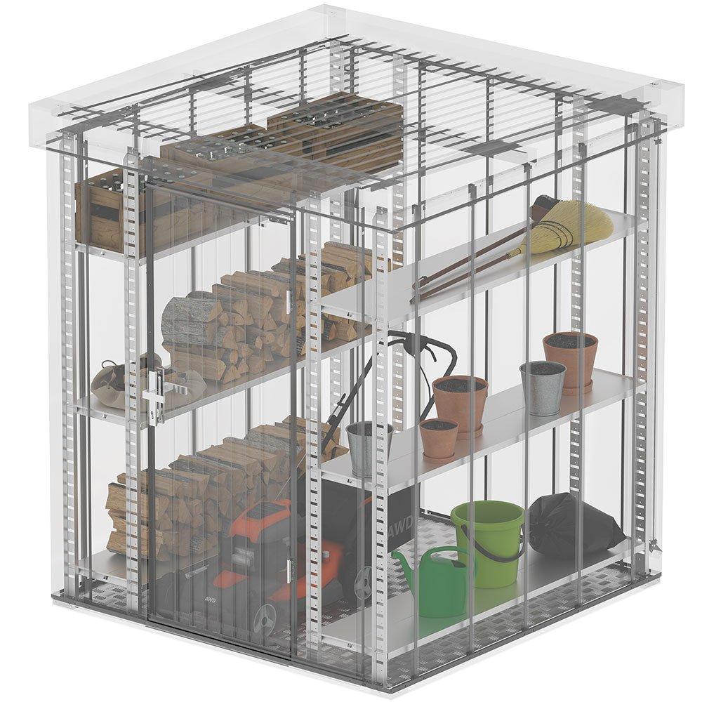 ILESTO | Estanterías Metálicas para Casetas de Jardín John | 60 cm de profundidad: Amazon.es: Jardín
