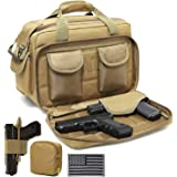 DBTAC Gun Range Bags Deluxe Middle Size | Tactical 2~4 Pistol Shooting Range Duffle Bag with Lockable Zipper for…