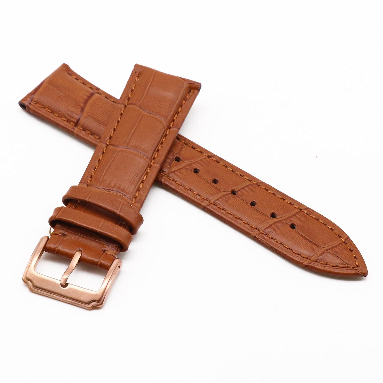 autuletファッション本革腕時計バンドライトブラウンsport-style 20  20 B07CGTL3LR