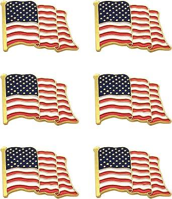 Enamel American United States Flag Jacket Lapel Hat Pin Patriotic Decor USA Gift