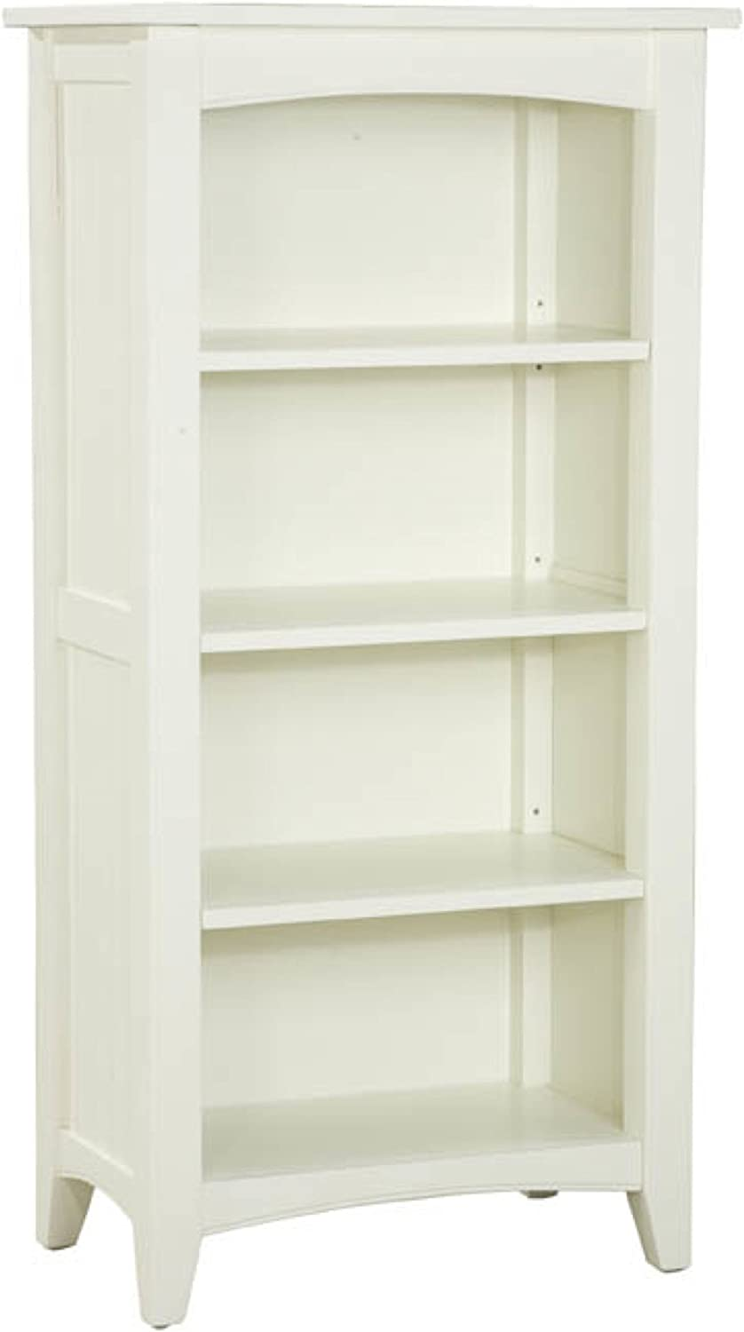 Shaker Cottage Tall Bookcase with 4 Shelves, Ivory